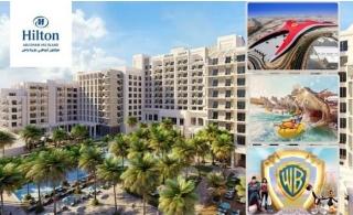 5* Hilton Abu Dhabi Yas Island Hotel Stay with Breakfast plus Free Access to Ferrari World or Yas Water Park or Warner Bros.