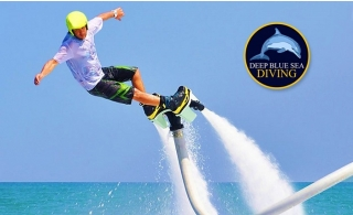 Jetovator or FlyBoard Experience from AED 179 by Deep Blue Sea Diving.