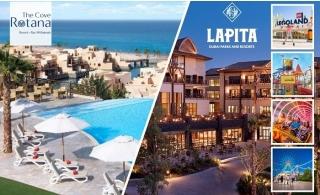 Lapita Dubai Parks & Resort with Parks Access + 5* Cove Rotana Resort Ras Al Khaimah.
