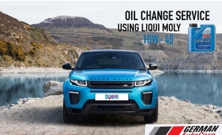 High Tech Synthesis Technology and filter change by German Auto Care from AED 220. LIQUI MOLY (10W - 40 Oil) SUPER LEICHTLAUF  (German Oil).