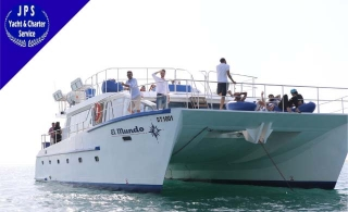 An Exciting Swimming Cruise With Lunch at The Arabian Sea, Overlooking The Burj Al Arab Back To Dubai Water Canal Bridge At Catamaran El Mundo, Starting at AED 229.