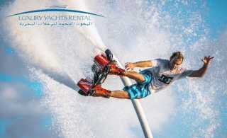 An exciting Flyboard Experience from Luxury Yachts Rental, Starting at AED 189