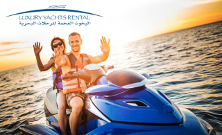 An exciting Jet Ski Ride at Jumeirah Beach 5 by Luxury Yachts Rental, starting at AED 99
