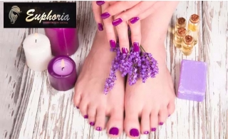 Classic or Gelish Mani-Pedi with optional Foot Spa Treatment at Euphoria Saloon