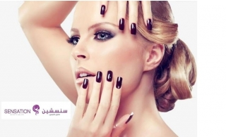 Doll up your nails with gelish or classic manicure & pedicure from Sensation Beauty Salon, starting from AED 59.
