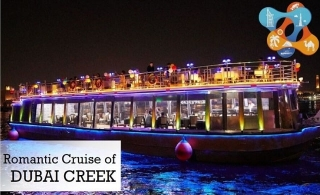 Set out on a Dubai Creek dhow cruise with dinner buffet from Marhaba Dubai Tours from only AED 49. Option for centralised transportation available.