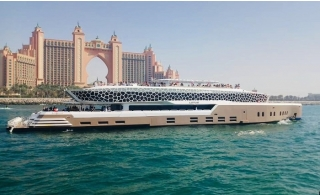 Megayacht Lotus Brunch or Dinner Cruise along Burj Al Arab, JBR, Marina, Palm, Blue Waters & Atlantis.
