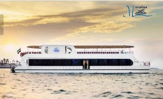 Experience Elegant Dinner while Cruising in Luxury Glass Monalisa Boat at Dubai Marina with 2-Hour Cruise, from AED 105.