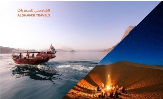 Desert Night Camping and Musandam Tour with Lunch plus BBQ Buffet Dinner, Breakfast, Dune Bashing, Entertainment, and more for AED 330 by Al Shamsi Travels. Pick-up  & Drop off  included.