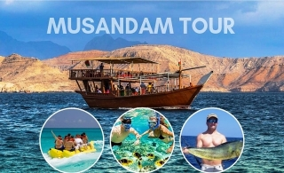 Musandam Dhow Cruise Trip direct to Dibba + food & activities starting from AED 80