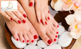 Nail & Hair combo packages at Le Coiffeur Salon - AUH, starting at AED 69.