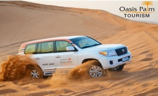 VIP Evening Desert Safari from Oasis Palm Tourism. BBQ dinner, live entertainment & transportation included!