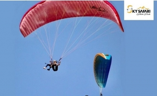 Exeperience a once in a lifetime thrill with Paragliding flights by Sky Safari from AED 295. Option to include filming is available.