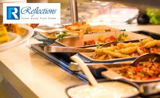 Party hall with dinner buffet and unlimited drinks for up to 60 people at Reflections Hotel- Al Jaddaf from AED 735 Only
