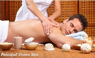 60-90Minutes Thai or Hot Oil Full Body Therapy for Men from Peaceful Ocean Spa. Four hands therapy also available.