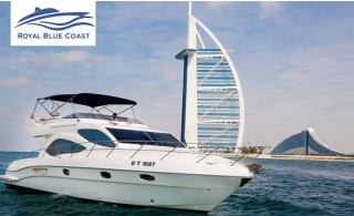 Luxury Private Yacht or Boat Cruise along Dubai Marina for up to 8 Person from Royal Blue Coast Yachts Rental LLC, starting at AED 250