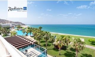 5* Radisson Blu Resort Fujairah 2-Bedroom Suite Stay with Breakfast or Half-Board.