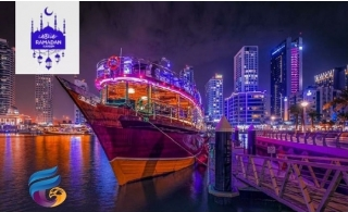 Iftar Dhow Cruise Along Dubai Marina From Falcon Oasis.