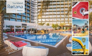 4* Rotana Yas Island Hotel Stay with Breakfast and 3 Days Parks Access