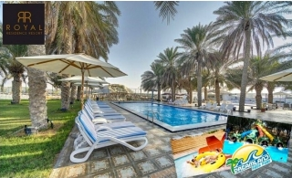 Royal Residence Resort One-Night Stay with Breakfast and Optional Dreamland Aqua Park tickets, from AED 279 only.