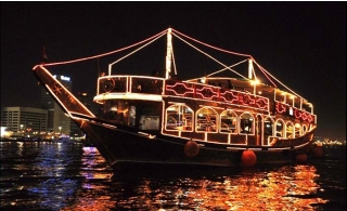 Dinner from The Palace On Sea Boat Creek Dhow Cruise