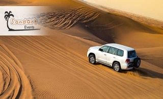 Hit the dunes with an evening desert safari with BBQ dinner buffet & entertainment from AED 39 per person by Sand Art Events LLC.