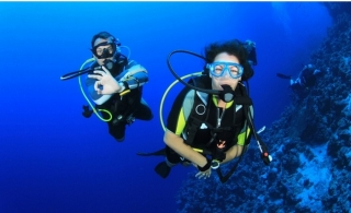 Explore & Experience the life under waters by Beach Scuba Diving for 2 Hours from Deep Blue Sea Diving from AED 329.