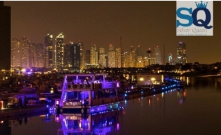 2 Hours Dinner Glass boat Cruise at Palm Jumeirah from Silver Queen Yachts.
