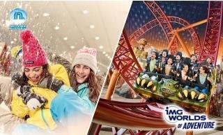 Combo: Ski Dubai Snow Daycation + Green Planet Or Atlantis Aquarium Or IMG Tickets