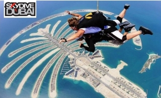 SkyDive Dubai: Tandem Skydiving at Palm Drop Zone or The Desert Campus Drop Zone from AED 1500