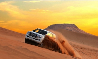 Desert Safari VIP 4x4 or Centralized Pick Up & Drop Off with Live Entertainment Shows and Buffet Dinner by Royal Desert Tours.
