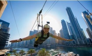 XLine Dubai Marina Zipline Ride.